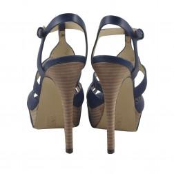 Sandale dama Guess, FLKIE2LEA03, Albastru