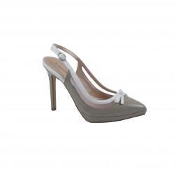 Pantof dama CafeNoir, din piele ecologica, Maro