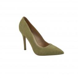 Pantof dama CafeNoir, din material textil, Galben