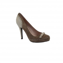 Pantof dama CafeNoir, din piele naturala, Maro