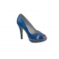 Pantof dama CafeNoir, din piele ecologica, Albastru