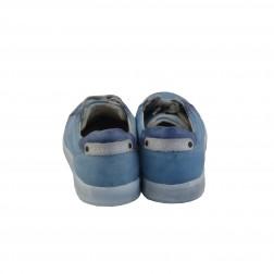 Pantof barbat CafeNoir, din piele naturala, Albastru