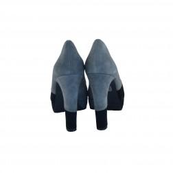 Pantof dama CafeNoir, din piele naturala, Negru