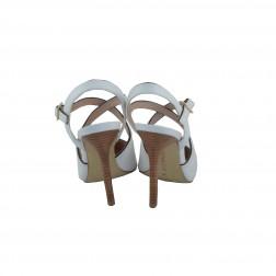 Pantof dama CafeNoir, din piele ecologica, Alb