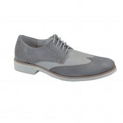Pantof barbat CafeNoir, din piele naturala, Gri
