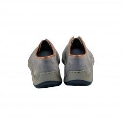Pantofi sport barbati din piele naturala, RIEKER, Gri