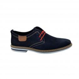 Pantofi sport barbati din piele intoarsa, RIEKER, Albastru