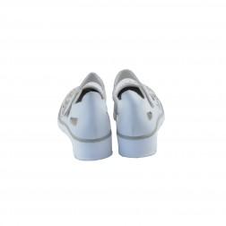 Pantof dama din piele naturala, RIEKER, Alb