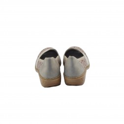 Pantof dama din piele natural, RIEKER, Bej