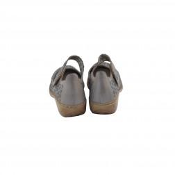 Pantof dama din piele naturala, RIEKER, Gri