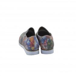 Pantof dama din piele naturala, RIEKER, Multicolor