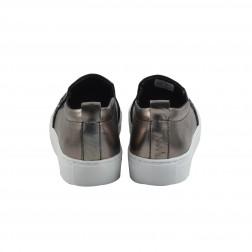 Pantofi dama din material sintetic si piele, TAMARIS, Platinum