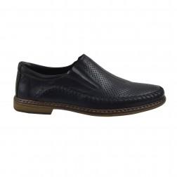 Pantofi barbati din piele naturala, RIEKER, Negru