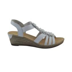 Sandale dama Rieker, 62461-80, Alb