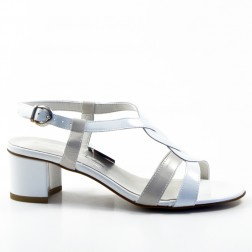 Sandale dama Lucrezia Barbieri, E246P, Alb